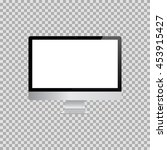 realistic monitor with screen... | Shutterstock .eps vector #453915427