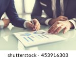 brainstorming business analysis ... | Shutterstock . vector #453916303