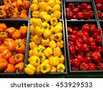Set Of Peppers Orange Yellow...