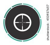 crosshair. white circle button...