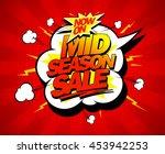 mid season sale pop art design... | Shutterstock .eps vector #453942253