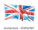 british flag. united kingdom.... | Shutterstock . vector #453962587