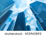 high rise buildings and blue... | Shutterstock . vector #453965893