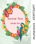exotic tropical summer card... | Shutterstock .eps vector #453972697