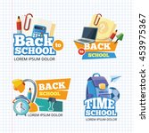 design template with vector... | Shutterstock .eps vector #453975367