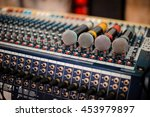 Many Microphone On Audio Mixer