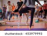 Women Practicing Yoga At Healt...