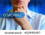 coaching title frame....   Shutterstock . vector #453990397