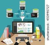 business intelligence analytics ... | Shutterstock .eps vector #453990727