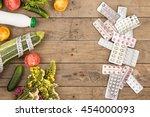the choice between a healthy... | Shutterstock . vector #454000093