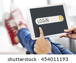 log in accessible permission... | Shutterstock . vector #454011193