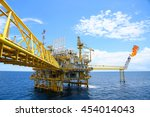 offshore construction platform... | Shutterstock . vector #454014043