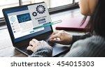 software update installation... | Shutterstock . vector #454015303