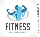 fitness logo | Shutterstock .eps vector #454026517