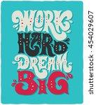 motivational lettering poster... | Shutterstock .eps vector #454029607