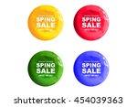 a set of watercolour... | Shutterstock . vector #454039363