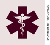 purple icon of medical symbol.... | Shutterstock .eps vector #454039603