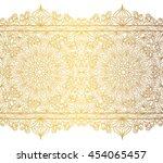 mandala seamless pattern... | Shutterstock . vector #454065457