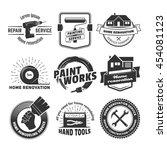 house remodeling logos. vector... | Shutterstock .eps vector #454081123