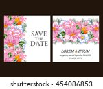 vintage delicate invitation... | Shutterstock . vector #454086853