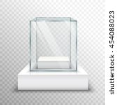 realistic empty glass for...   Shutterstock .eps vector #454088023