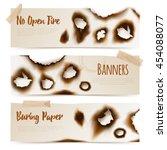 set of horizontal paper banners ... | Shutterstock .eps vector #454088077