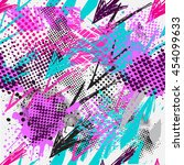 abstract seamless chaotic... | Shutterstock .eps vector #454099633