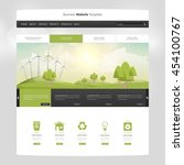 eco website design template.... | Shutterstock .eps vector #454100767