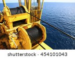 crane construction on oil and...   Shutterstock . vector #454101043