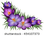 illustration of floral corner... | Shutterstock .eps vector #454107373
