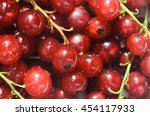 closeup to red currant berries | Shutterstock . vector #454117933
