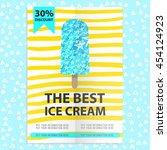 the best ice cream flyer with...   Shutterstock .eps vector #454124923
