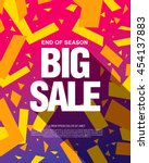 big sale banner template design | Shutterstock .eps vector #454137883