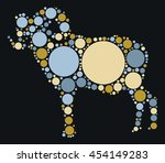 goat shape vector design by... | Shutterstock .eps vector #454149283