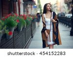 young sexy beautiful pretty... | Shutterstock . vector #454152283