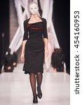 a model walks the runway on the ... | Shutterstock . vector #454160953