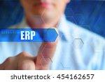 erp title frame. businessman... | Shutterstock . vector #454162657