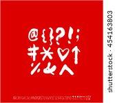 alphabet   number   handwriting ... | Shutterstock .eps vector #454163803