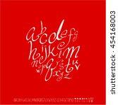 alphabet   number   handwriting ...   Shutterstock .eps vector #454168003