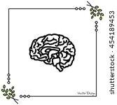 web line icon. human brain | Shutterstock .eps vector #454189453