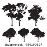 set of five trees vector... | Shutterstock .eps vector #454190527