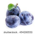 plums . | Shutterstock . vector #454200553