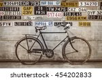 Ancient Bicycle In Front Of An...