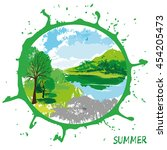 vector illustration of summer.   Shutterstock .eps vector #454205473