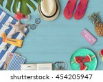 travel trip vacation holiday... | Shutterstock . vector #454205947