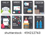back to school information... | Shutterstock .eps vector #454212763