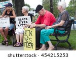 people waiting at the ocala... | Shutterstock . vector #454215253