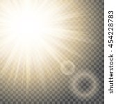 sun rays with hotspot and flare ... | Shutterstock .eps vector #454228783