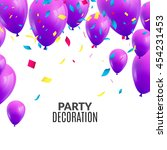 vector happy birthday card with ... | Shutterstock .eps vector #454231453