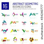 abstract geometric business... | Shutterstock . vector #454240777